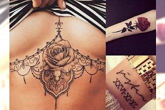 Tatuaże, jak z najlepszych salonów - kobiece, zmysłowe, stylowe wzory