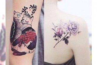 Kolorowe tatuaże dla dziewczyn - te wzory to HIT tego roku