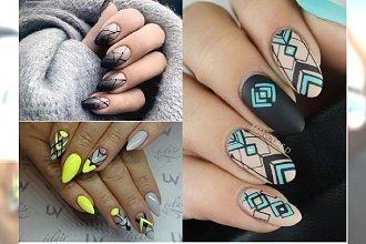 Manicure 2018: Geometryczne wzory na paznokciach. Zobacz najmodniejsze zdobienia na 2018 rok!