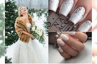 Bierzesz ślub zimą? Zobacz propozycje na ślubny zimowy manicure 2020!