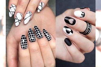 Manicure 2018: pomysły na modne czarno-białe zdobienie paznokci