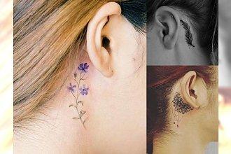 Tatuaż przy uchu - 20 najmodniejszych wzorów dla dziewczyn