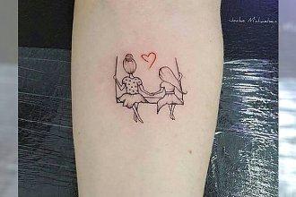 Tatuaże dla mamy i córki - przepiękne wzory, które podkreślą łączącą Was więź