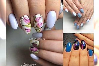 Blue nails 2018 - najpiękniejsze stylizacje paznokci na ten rok
