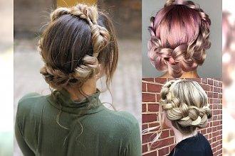 Warkocz a'la korona - 16 pomysłów na śliczne fryzury dla dziewczyn