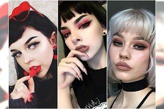 Fryzury z grzywką w stylu goth grunge - mroczne i słodkie. To wielki HIT Instagrama!