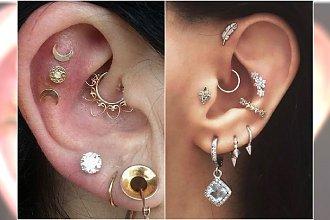Modny piercing ucha: inner conch, daith, rook. Teraz ozdabiamy wnętrze małżowiny!
