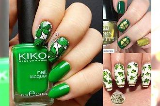 Manicure z koniczynką - 20 pomysłów na wiosenne stylizacje paznokci z symbolem szczęścia