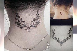 Tatuaż na karku - przeglądamy najpiękniejsze, kobiece wzory