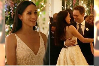 Meghan Markle wzięła ślub! Zobaczcie, jaką miała SUKNIĘ ŚLUBNĄ... w serialu!