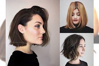 Najpiękniejsze boby dla włosów półkrótkich - galeria fryzjerskich trendów