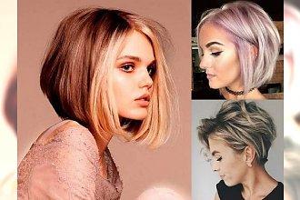 Najpiękniejsze boby dla krótkich i półdługich włosów – galeria trendów