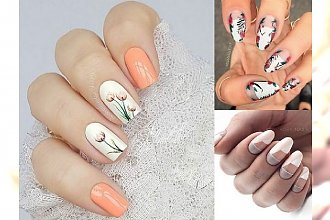 Jasny manicure na lato - zdobienia w tych kolorach to hit!