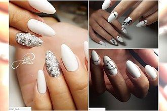 Białe paznokcie znów są hitem sezonu. Wypróbujcie te eleganckie wzory!