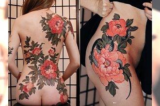 Japońskie tatuaże znów są na topie. DUŻE, BARWNE WZORY jak prawdziwe dzieła sztuki!