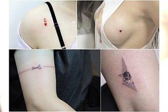 """Malutkie tatuaże dla dziewczyn - zaskakujące wzory w """"modnych"""" miejscach. Zobaczcie, jakie słodkie!"""