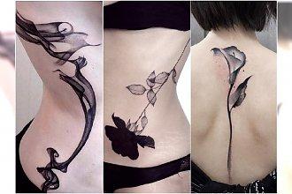 Czarne tatuaże - eleganckie wzory dla współczesnej femme fatale