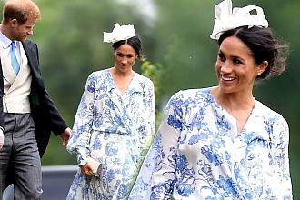 """Meghan i Harry na ślubie kuzynki. Kreacja księżnej nie zachwyciła... """"NAJGORSZA, jak do tej pory!"""""""