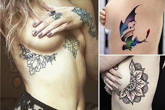 Sideboob tattoo - najpiękniejsze wzory na kobiecą ozdobę ciała