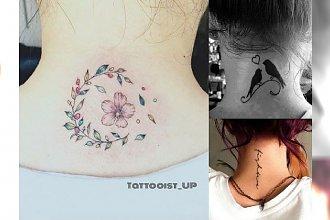 Tatuaż na karku - nowoczesne wzory dla dziewczyn