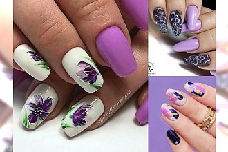 Fiolet na paznokciach na pierwszym miejscu w trendach - galeria najpiękniejszych zdobień