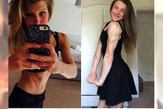 Ta anorektyczka ważyła kiedyś LEDWIE 30 KILO i omal nie umarła, a teraz zakwalifikowała się do mistrzostw świata kulturystów! Zobaczcie tę NIESAMOWITĄ PRZEMIANĘ!