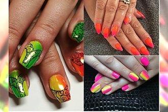 Manicure 2018: Neonowe ombre na lato! Poznaj najpiękniejsze propozycje