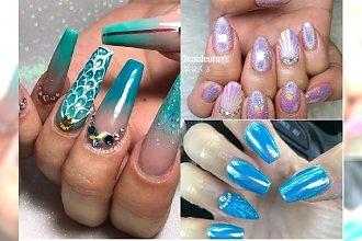 Manicure 2018: Nie zgadniecie, co jest teraz hitem na Instagramie! Manicure inspirowany SYRENĄ!