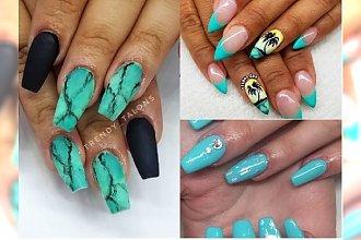 Manicure 2018: Turkus - ten kolor idealnie sprawdzi się latem! Zobacz propozycje na turkusowy manicure