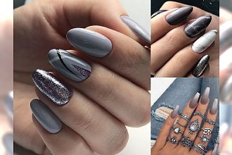Szary manicure to zdecydowany hit tego roku - przegląd najpiękniejszych zdobień