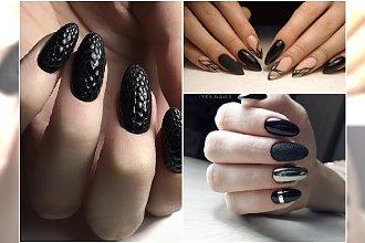 Czarny manicure powraca jesienią w jeszcze piękniejszym wydaniu!