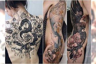 Duże tatuaże dla kobiet. 20 najpiękniejszych wzorów na plecy, bok i udo