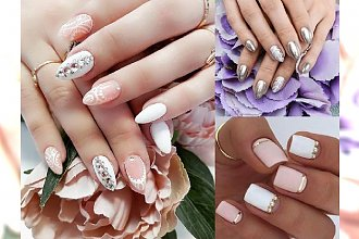 28 pomysłów na ślubny manicure - galeria niesamowitych wzorów