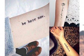 Tatuaże napisy - galeria modnych wzorów, które inspirują