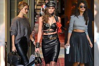 Moda na jesień 2018: Skórzana spódnica wraca do łask! Nie tylko czarna. Wiemy, jakie kolory będą najmodniejsze!