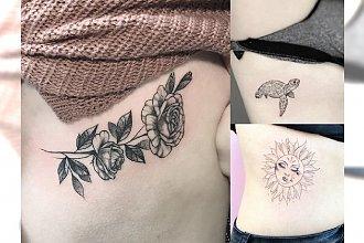 Rib tattoos - galeria uroczych i kobiecych wzorów, które robią wrażenie