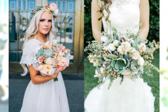 Najnowszy TREND w modzie ślubnej - sukulenty