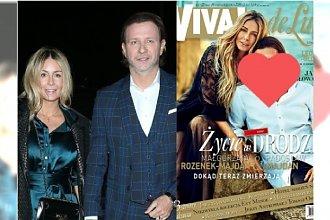 """Małgorzata Rozenek-Majdan na okładce """"VIVY"""". Ale fani patrzą na Radzia. Co oni mu zrobili z twarzą?"""