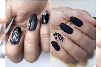Czarne paznokcie - nowoczesne wzory, jakich jeszcze nie próbowałyście!