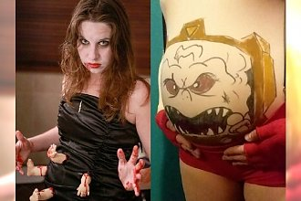 Ciąża jak z HORRORU? Te mamy uczyniły z ciążowego brzuszka część halloweenowego kostiumu! Uwaga, niektóre stroje są dość drastyczne!