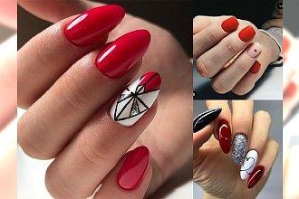 Czerwony manicure - 25 pomysłów, które Cię urzekną! [GALERIA]