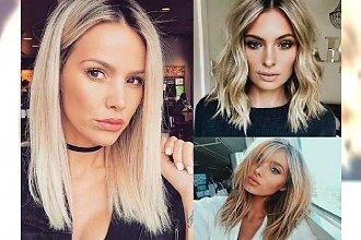 25 półdługich fryzur dla blondynek - galeria trendów