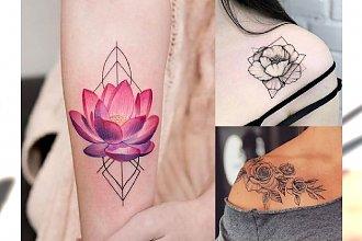 Tatuaże kwiaty - galeria prześlicznych wzorów, które Cię urzekną