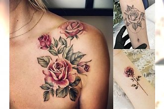 Tatuaż róża - galeria ślicznych i unikatowych wzorów dla kobiet