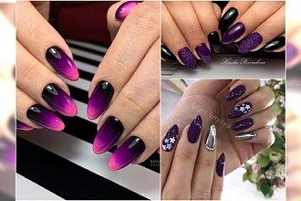 Magiczny fiolet na paznokciach. Wypróbuj fioletowy manicure ombre lub w modnej wersji ze srebrem