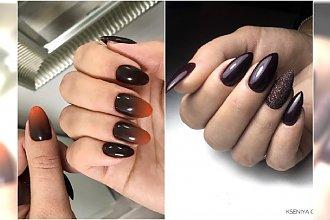 Modny manicure na jesień: brązowy manicure w apetycznych odcieniach czekolady