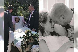 Ten piękny ślub odbył się w HOSPICJUM. Państwo młodzi zamiast miesiąca miodowego mieli już dla siebie tylko parę dni...