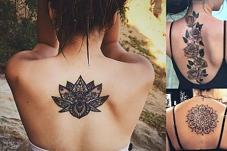 Tatuaże na plecy - 30 szczególnie pięknych i wyjątkowych wzorów dla kobiet