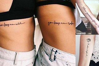 Tatuaże napisy - galeria najciekawszych wzorów dla kobiet