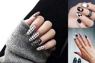 Czarno-biały manicure - galeria najciekawszych pomysłów z sieci